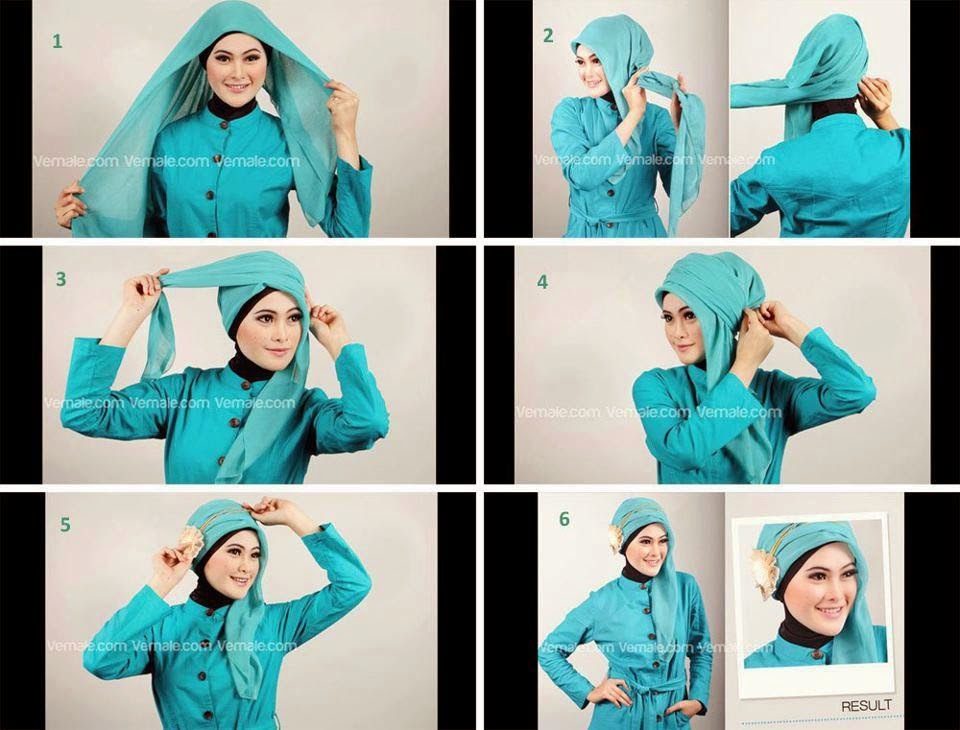 Cara Memakai Jilbab Pesta Modern